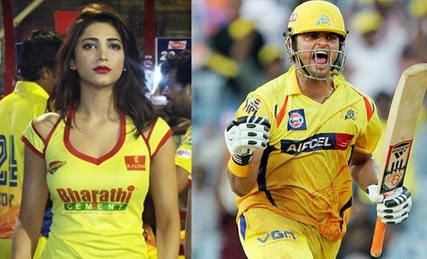After Anushka Sharma-Virat Kohli, Shruti Haasan and Suresh Raina the new lovebirds in town!