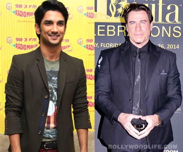 Is Sushant Singh Rajput trying hard to impress John Travolta?