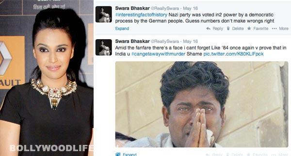 Swara Bhaskar faces public ire for anti Narendra Modi comments!
