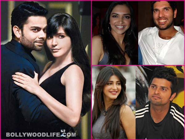 Anushka Sharma-Virat Kohli, Shruti Hassan- Suresh Raina, Deepika Padukone-Yuvraj Singh: When Bollywood romances cricket…