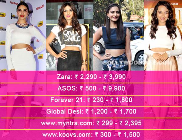 Deepika Padukone, Priyanka Chopra or Sonakshi Sinha: Whose crop top do you like the best?