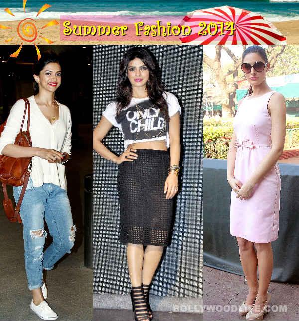 Summer Fashion 2014: Deepika Padukone, Priyanka Chopra and Nargis Fakhri show a sexy way to beat the heat!