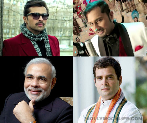 Is Himesh Reshammiya and Yo Yo Honey Singh's The Xpose not scared of Narendra Modi, Rahul Gandhi and Arvind Kejriwal's election results?