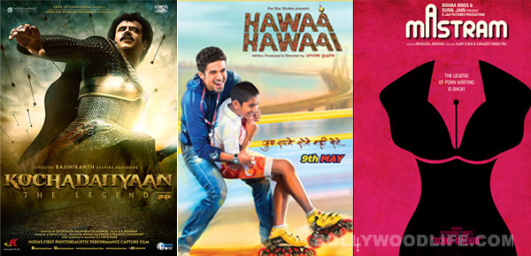 Will Rajinikanth's Kochadaiiyaan overpower Hawaa Hawaai and Mastram at the box office? Trade buzz!