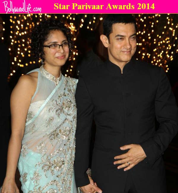What are Aamir Khan and Kiran Rao doing at the Star Parivaar Awards 2014?