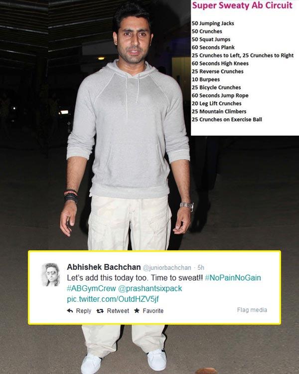 Revealed: Abhishek Bachchan's killer work-out schedule!