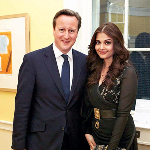 Why did the British PM David Cameron invite Aishwarya Rai Bachchan to England?