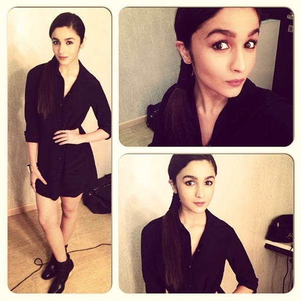 Alia Bhatt shows the sexy way to sport a button down dress-without a bottom!- View pic