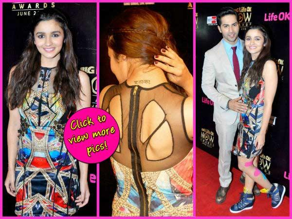 Life Ok Now awards: Alia Bhatt flaunts her 'Pataka' tattoo- View pics!
