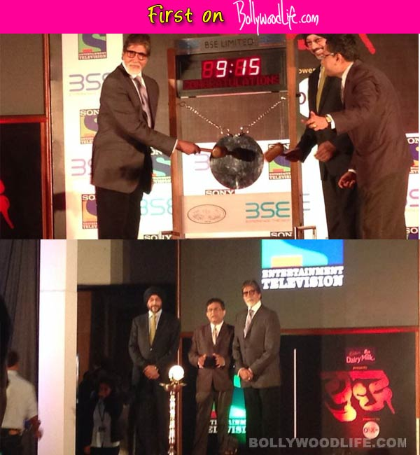 Amitabh Bachchan promotes his debut fictional TV show Yudh at The Bombay Stock Exchange