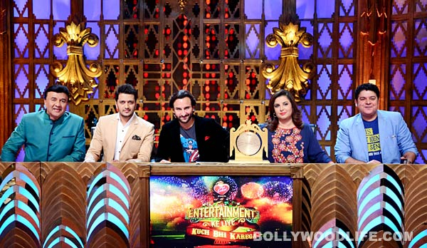 Entertainment Ke Liye Kuch Bhi Karega: Saif Ali Khan and Riteish Deshmukh get groovy on the show – View pics!