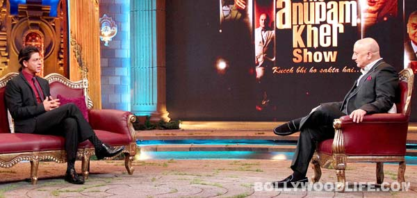 Shah Rukh Khan on Anupam Kher's TV show - View pics!