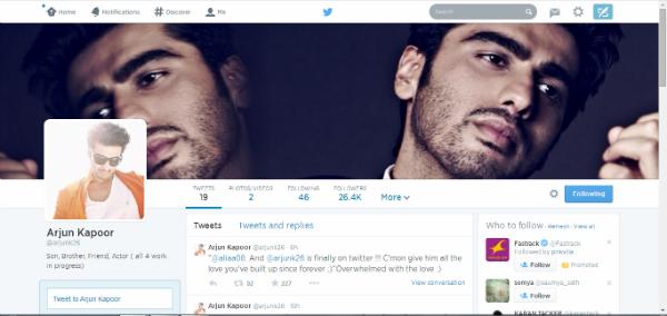 Check out Arjun Kapoor's Twitter-Tevar!