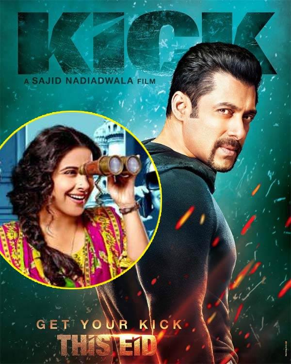 What is Vidya Balan's big Kick revelation?