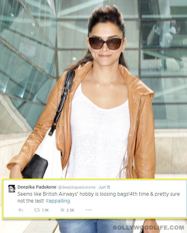Deepika Padukone loses her luggage for the fourth time!