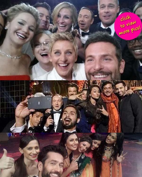 Star Parivaar Awards 2014: Telly stars Nakuul Mehta, Sanjeeda Sheikh and Divyanka Tripathi bitten by the selfie bug!