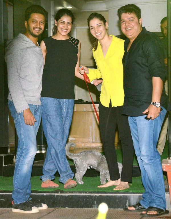 Riteish Deshmukh, Sajid Khan and Tamannaah unite for a Humshakals after party- View pics!