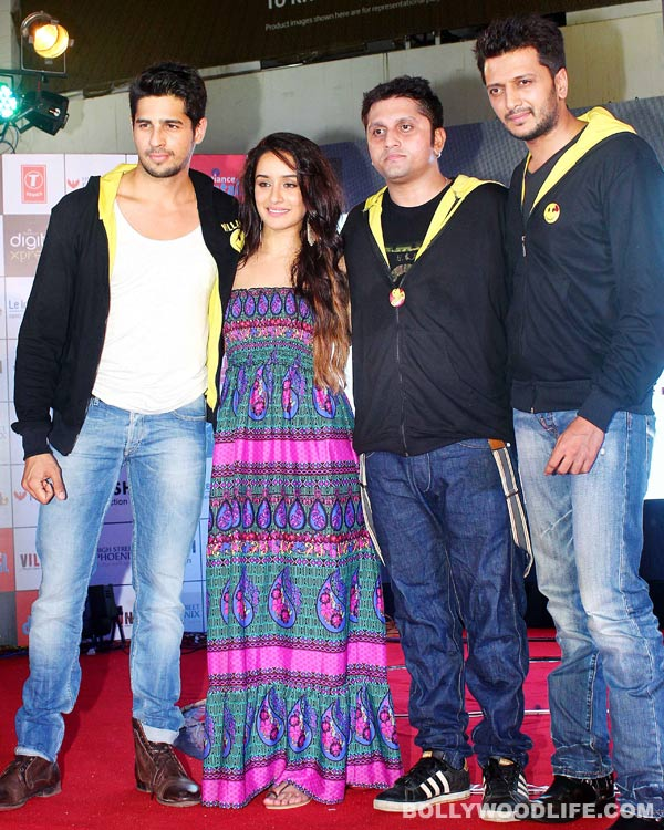Sidharth Malhotra, Shraddha Kapoor and Riteish Deshmukh attend a musical event of Ek Villain!