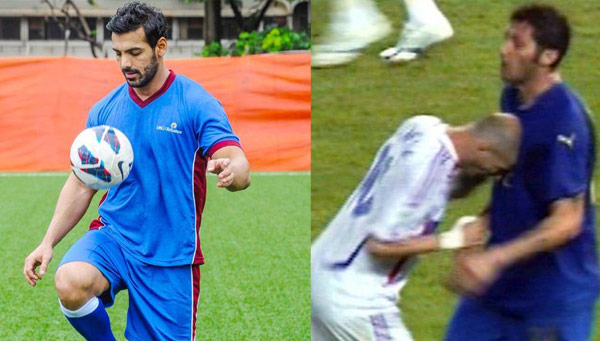 John Abraham : I was at the stadium when Zinedine Zidane headbutted Marco Materazzi