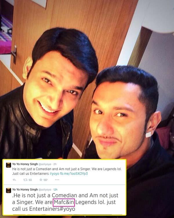 Comedy Nights with Kapil: Yo Yo Honey Singh abuses Kapil Sharma on Twitter!