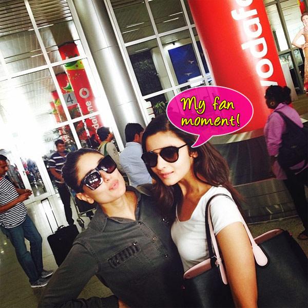 When Alia Bhatt bumped into her biggest idol Kareena Kapoor Khan- View pic!