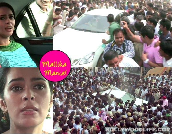 Mallika Sherawat creates mass hysteria - watch video!