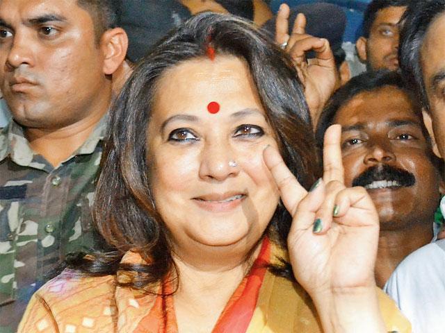 Moon Moon Sen exuberant at having so many women for company in the Lok Sabha