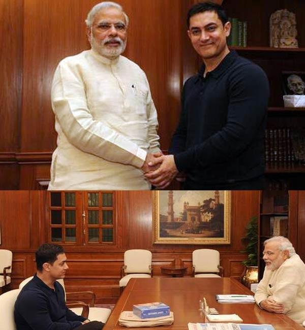 After Salman Khan, Aamir Khan meets Narendra Modi - view pic!