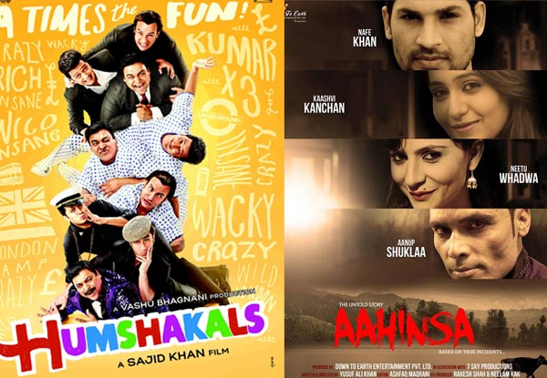 Movies to watch this week: Humshakals and Aahinsa-The Untold Story