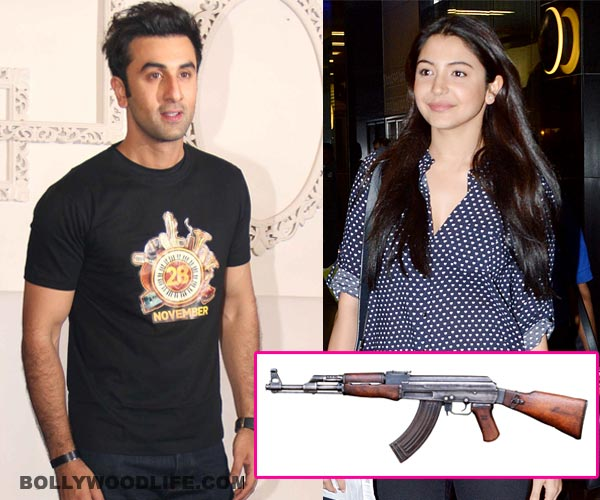 What are Ranbir Kapoor and Anushka Sharma doing with real guns? Find out!