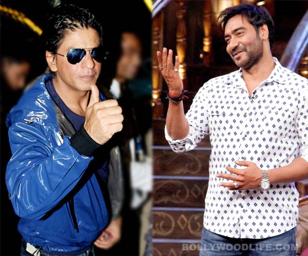 Shah Rukh Khan and Ajay Devgn hug, will Kajol be relieved?