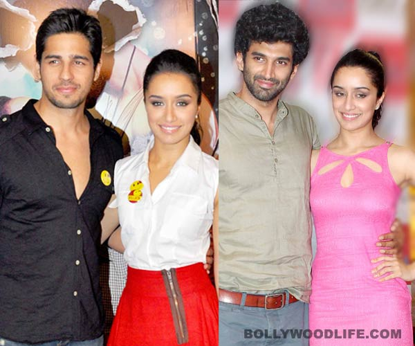 What does Shraddha Kapoor feel about working with Aditya Roy Kapur and Sidharth Malhotra?