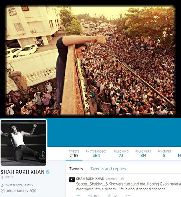 Shah Rukh Khan fans celebrate #SRK8MIllion on Twitter