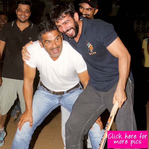 Suniel Shetty, Jay Bhanushali, Shaan get together for a friendly cricket match- View pics!