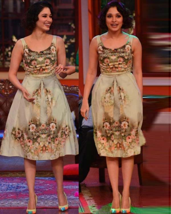 Tamannaah rocks the retro look on the sets of Comedy Nights with Kapil