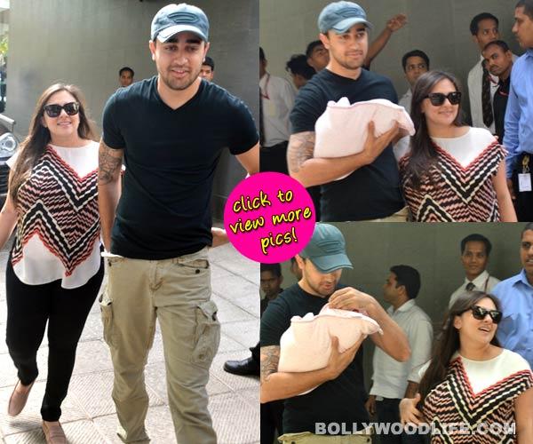 Imran Khan and wife Avantika take home their bundle of joy - view pics!