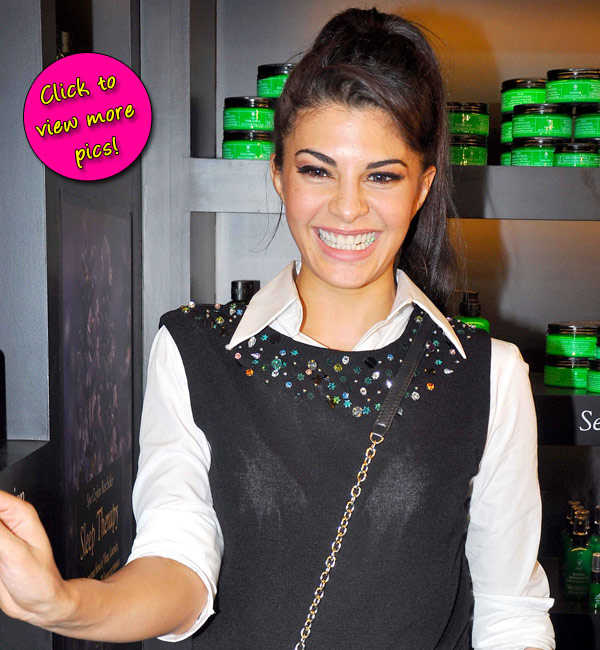 Jacqueline Fernandez at a spa launch- View pics!