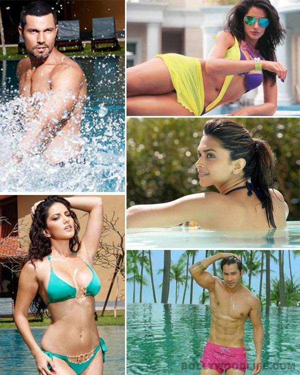 Sonam Kapoor, Priyanka Chopra, Varun Dhawan chilling by the pool: Check out sexy pics of celebs beating the summer heat!