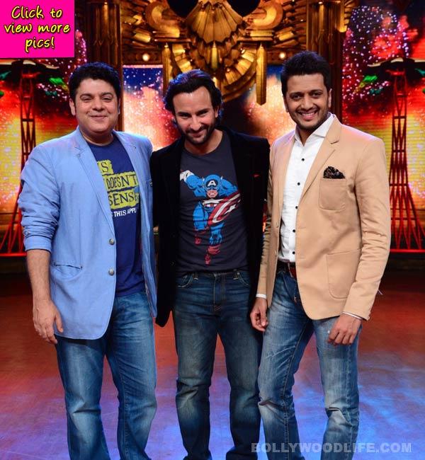 Entertainment Ke Liye Kuch Bhi Karega: Saif Ali Khan meets contestants with Kareena Kapoor's tattoo – view pics!