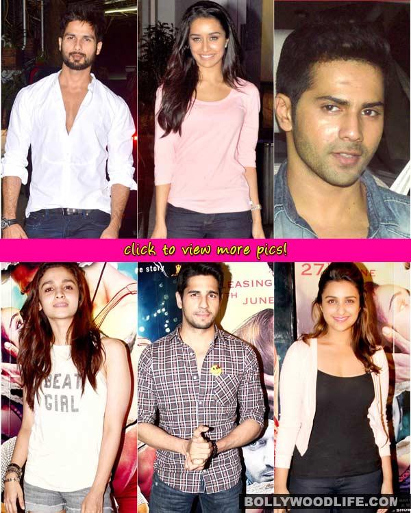 Alia Bhatt, Varun Dhawan, Shahid Kapoor and Parineeti Chopra attend Ek Villain screening- View pics!