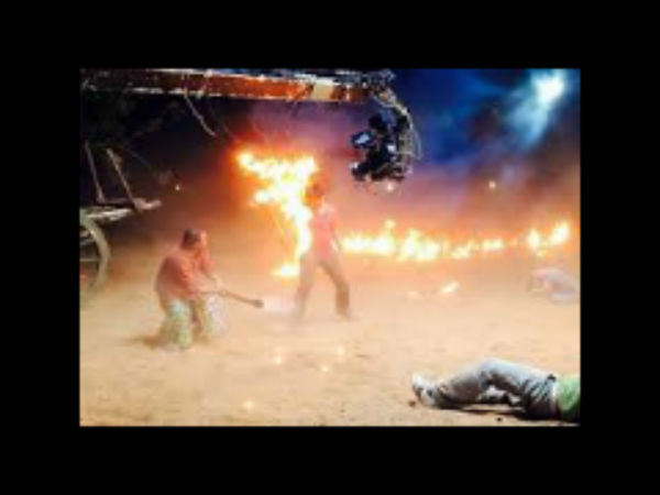 Manchu Manoj catches fire at sets of Current Teega!