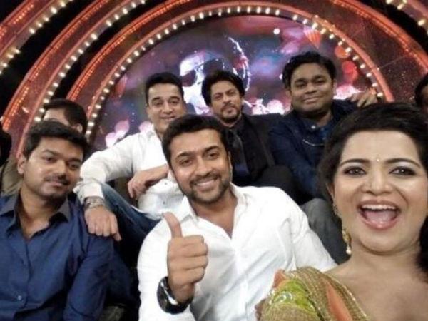 Vijay Awards hit by selfie bug - Shah Rukh Khan, Suriya, Nayantara, Hansika click selfies - View pics!