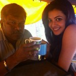 Kajal Aggarwal has a blast shooting for Govindudu Andarivadele!