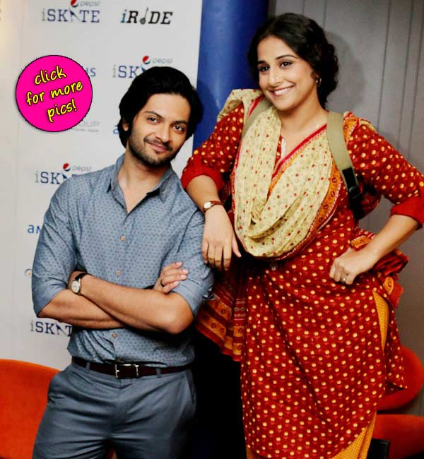 Vidya Balan and Ali Fazal promote Bobby Jasoos in Delhi