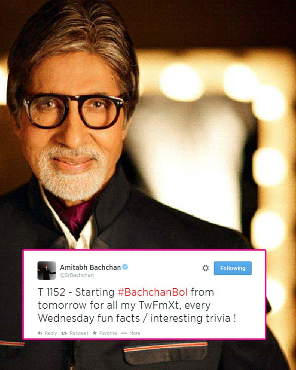 Amitabh Bachchan to interact with fans via #BachchanBol on Twitter!