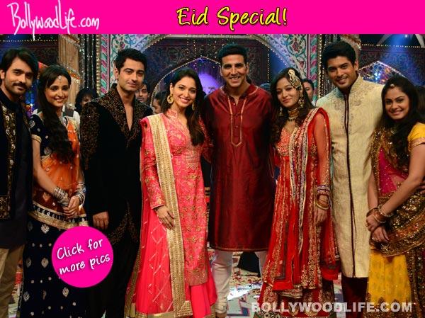 Eid Special: Akshay Kumar celebrates with Beintehaa, Balika Vadhu and Rangrasiya cast – View pics!