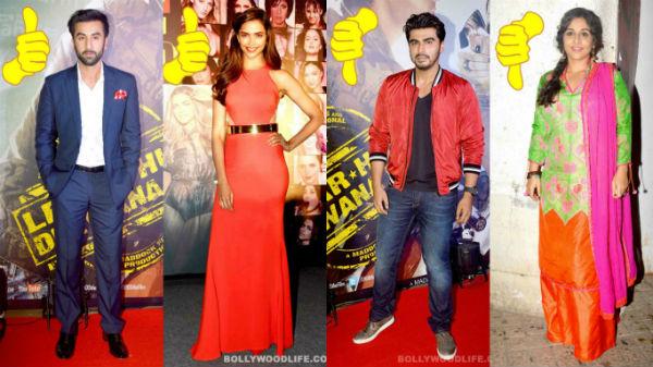 Ranbir Kapoor, Deepika Padukone, Arjun Kapoor, Vidya Balan: A look at this week's best and worst dressed celebs