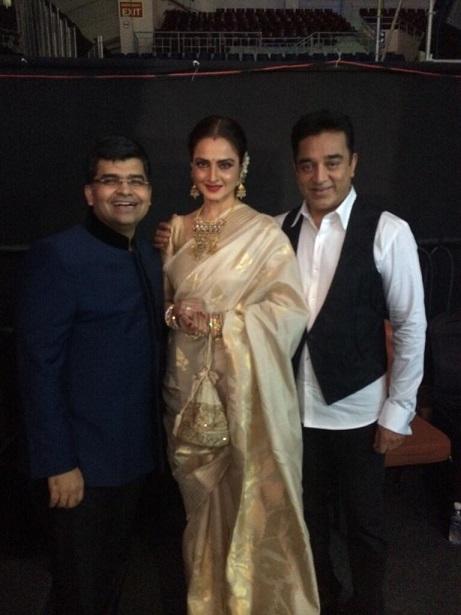61st Filmfare Awards South : Kamal Haasan, Rekha, Dhanush, Mahesh Babu spotted - view pics!