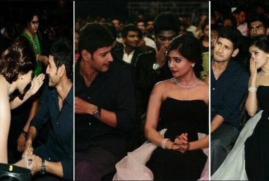 Mahesh Babu and Samantha patch up at Filmfare Awards!