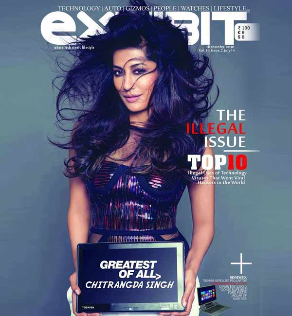 Chitrangada Singh poses as a sexy covergirl for a tech magazine – watch video!